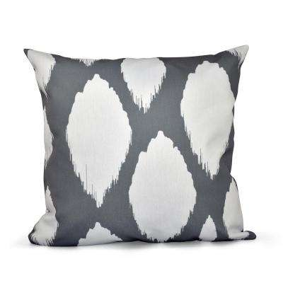 16 in. x 16 in. Abstract Decorative in Gray Pillow