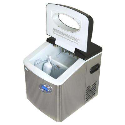50 lb. Portable Ice Maker in Metallics