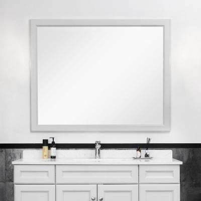 24 in. W x 36 in. H Rectangle Bathroom Framed Wall Mirror in Dove Grey
