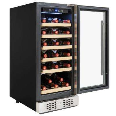 15 in. 30-Bottle Wine and 60-Can Built-in Compressor Beverage Cooler