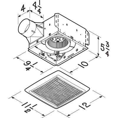 InVent Series 80 CFM Wall/Ceiling Installation Bathroom Exhaust Fan, ENERGY STAR*