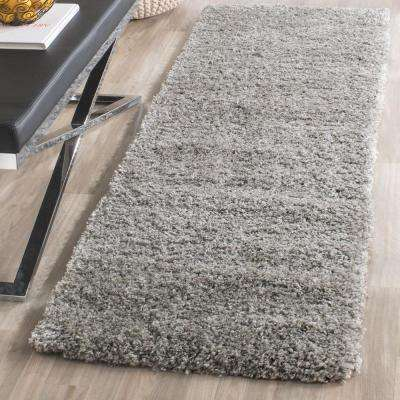 California Shag Silver 2 ft. x 19 ft. Runner Rug
