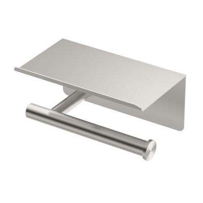Latitude II, Tissue Holder with Mobile Shelf in Satin Nickel