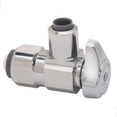 1/2 in. Nominal Push Connect Inlet x 3/8 in. O.D. Push Connect Outlet Brass 1/4-Turn Angle Valve (5-Pack)