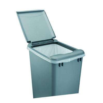 2 in. H x 10 in. W x 14 in. D 35 Qt. Silver Waste Container Lid