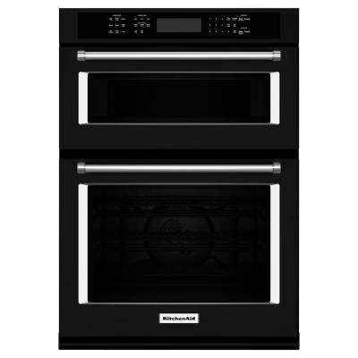30 in. Electric Even-Heat True Convection Wall Oven with Built-In Microwave in Black