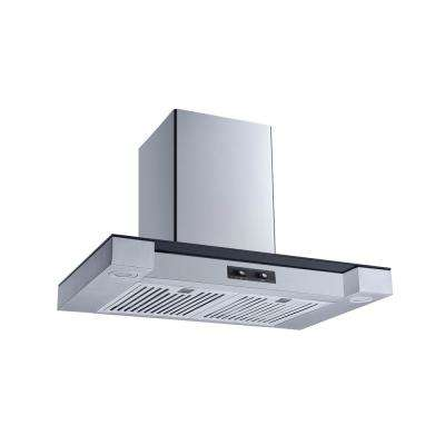 30 in. Convertible Wall Mount Range Hood in Stainless Steel and Glass with Stainless Steel Baffle Filters