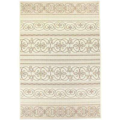 Veranda Ivory 7 ft. 10 in. x 10 ft. 10 in. Indoor/Outdoor Area Rug