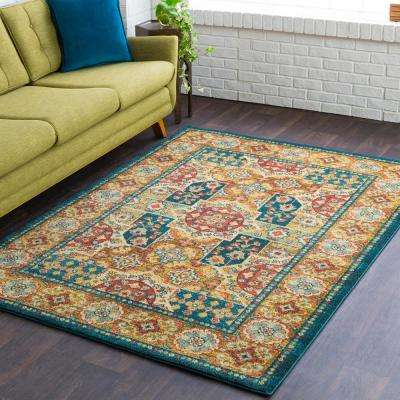 Macael Teal 8 ft. x 10 ft. Area Rug