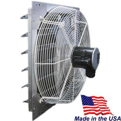 5090 CFM Silver Electric Powered Wall Mount Electric Attic Fan