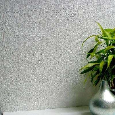 Dandelion Blush Paintable Textured Vinyl Wallpaper Sample