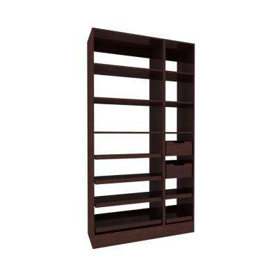 45 in. W x 15 in. D x 84 in. H Wood Pantry Organizer with Slide-out Shelves in Mocha