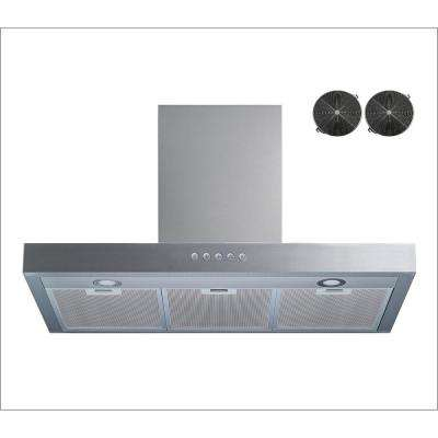 30 in. Convertible Wall Mount Range Hood in Stainless Steel with Aluminum Filter, Push Touch Control and Carbon Filters