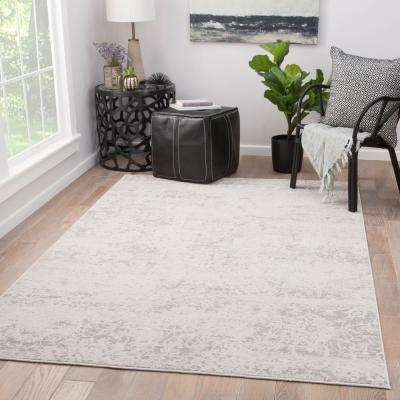 Machine Made Pumice Stone 10 ft. x 14 ft. Floral Area Rug