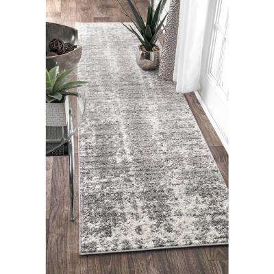 Deedra Grey 2 ft. x 9 ft. Runner Rug