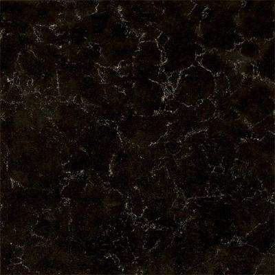 3 in. Quartz Countertop Sample in Midnight