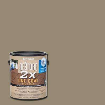 1 gal. 2X Taupe Solid Deck Stain with NeverWet