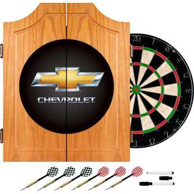 Chevrolet Wood Finish Dart Cabinet Set