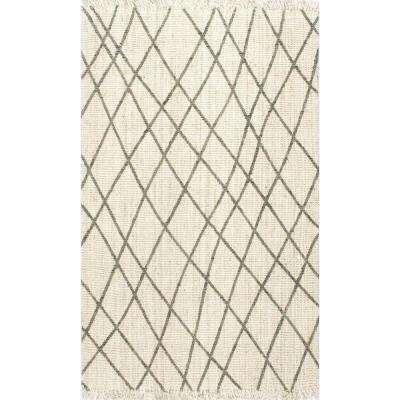 Lattice Delcie Bleached 5 ft. x 8 ft. Area Rug