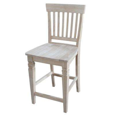 Unfinished wood bar stools kitchen dining room furniture the home depot Home depot wood bar stools