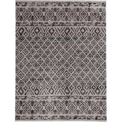Tribal Essence Gray 7 ft. 10 in. x 9 ft. 10 in. Area Rug