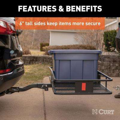 500 lbs. Capacity Basket-Style Hitch Cargo Carrier