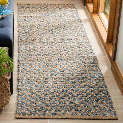 Cape Cod Blue/Natural 2 ft. x 8 ft. Runner