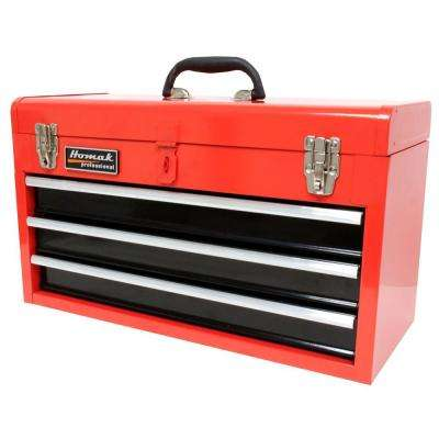 20 in. 3-Drawer Tool Box, Red