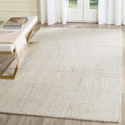 Abstract Ivory/Beige 8 ft. x 10 ft. Area Rug