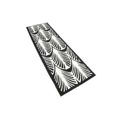 Metro Zebra Black 2' 0 x 6' 7 Runner Rug