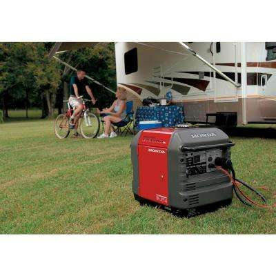 3000-Watt Gasoline Powered Electric Start Portable Generator with Eco-Throttle and Oil Alert