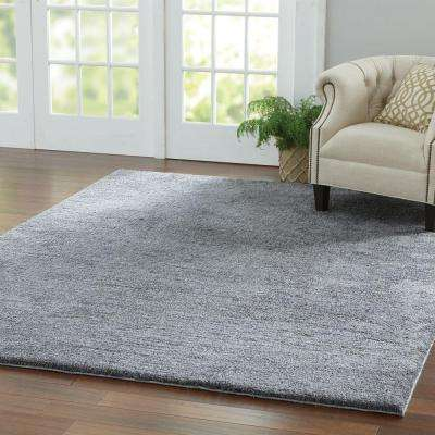 Ethereal Shag Gray 8 ft. x 8 ft. Square Indoor Area Rug