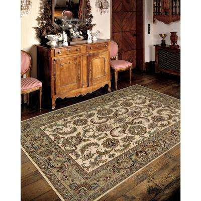 India House Ivory/Gold 8 ft. x 11 ft. Area Rug