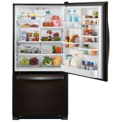 22.1 cu. ft. Bottom-Freezer Refrigerator in Fingerprint Resistant Black Stainless