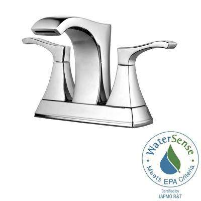 Venturi 4 in. Centerset 2-Handle Bathroom Faucet in Polished Chrome