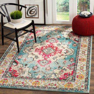 Monaco Light Blue/Fuchsia 9 ft. x 12 ft. Area Rug