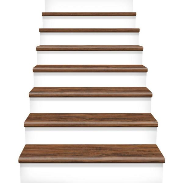 Free Cap A Tread Highland Hickory In Length X In Deep X In Height Laminate  To Cover Stairs In Thick The Home Depot With Laminate Stair Tread Covers
