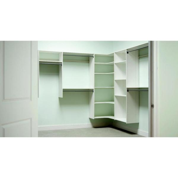 Perfect Classic White Corner Shelf Packw The Home Depot With