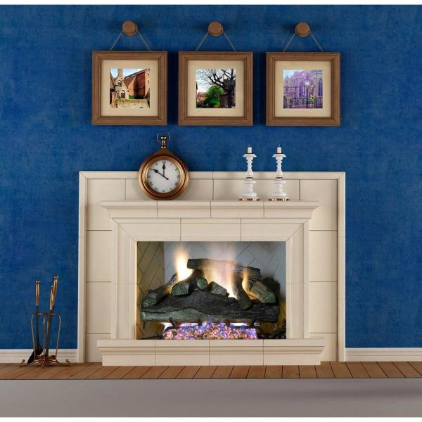 Emberglow Lanier Oak 24 in. Vented Natural Gas Fireplace Logs-LO24NG - The  Home Depot - Emberglow Lanier Oak 24 In. Vented Natural Gas Fireplace Logs