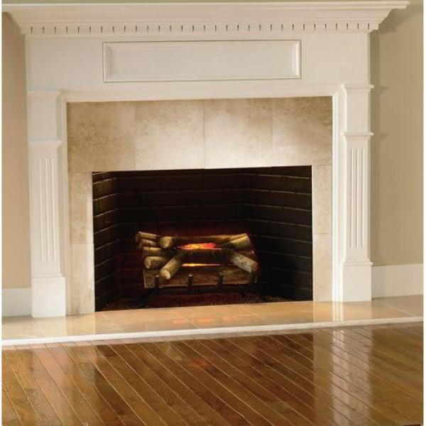 Electric Crackling Fireplace Logs-L-20W - The Home Depot - Pleasant Hearth 20 In. Electric Crackling Fireplace Logs-L-20W