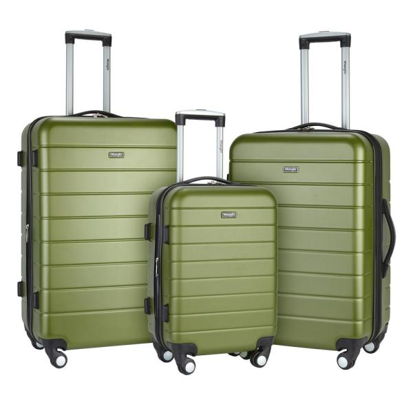 Wrangler Traveles Olive Luggage Collection
