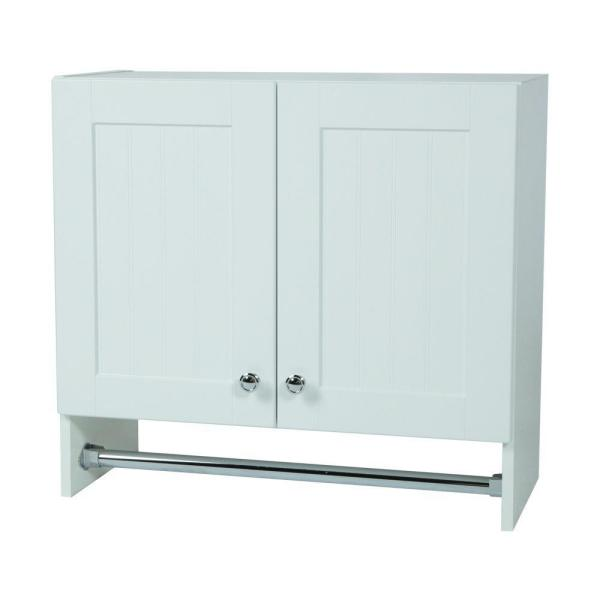 Laundry Wall Cabinet In Country White Wc2725 Wh The Home Depot