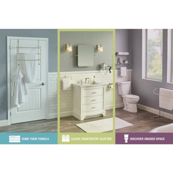Delta Decorative Bath Storage, Polished Chrome - Clear Countertop Clutter