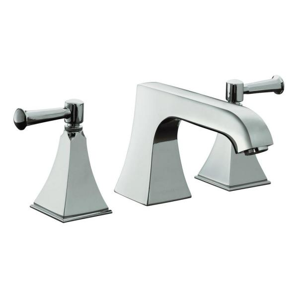 Kohler Memoirs 8 In 2 Handle Bathroom Faucet In Polished Chrome With Stately Design And Lever Handles Valve Not Included K T469 4s Cp The Home Depot