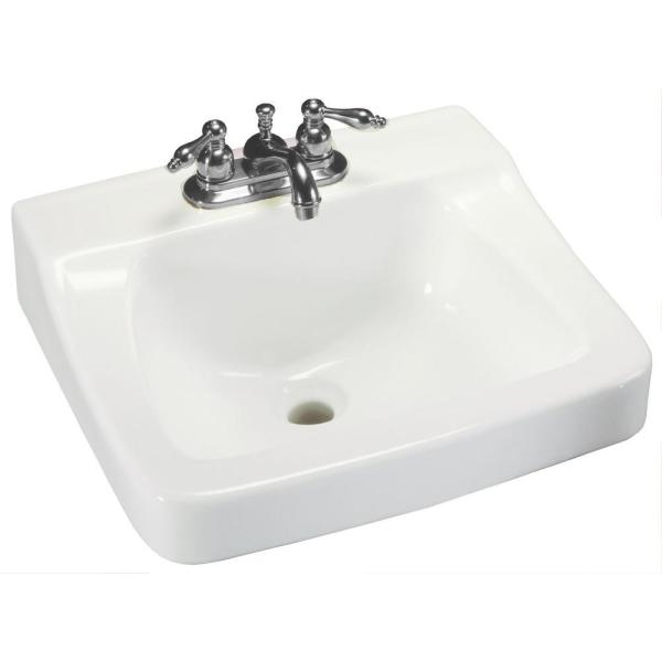 Glacier Bay Aragon Wall Mounted Bathroom Sink In White 13 0010 Ada The Home Depot