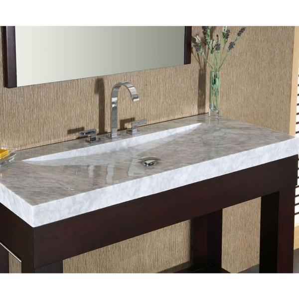 italian carrera marble vanity top with integral sink basin in white svt480wt the home depot