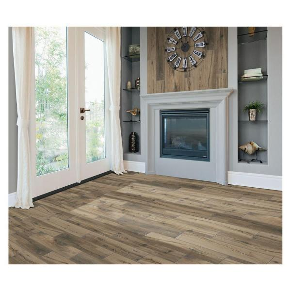 MARAZZI Montagna Harvestwood 6 in. x 36 in. Glazed Porcelain Floor and Wall  Tile (14.50 sq. ft. / case)-MT36636HD1PR - The Home Depot - MARAZZI Montagna Harvestwood 6 In. X 36 In. Glazed Porcelain Floor