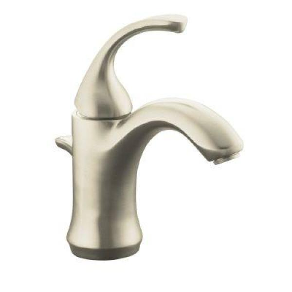 Kohler Forte Single Hole Single Handle Low Arc Water Saving Bathroom Faucet In Vibrant Brushed Nickel K 10215 4 Bn The Home Depot