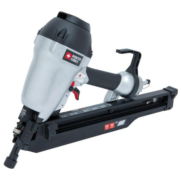 porter cable 3 12 in 30 degree to 34 degree clipped head framing nailer fc350b the home depot