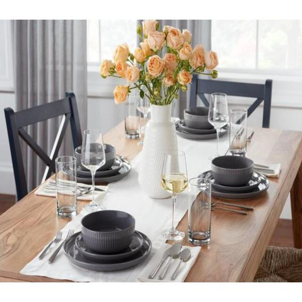 Home Decorators Collection Home Decorators Collection Gray Dinnerware Sets